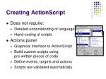 creating actionscript