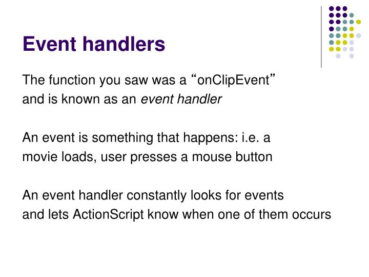 Event handlers