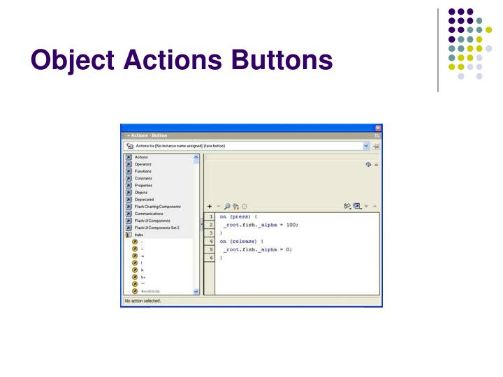 Object Actions Buttons