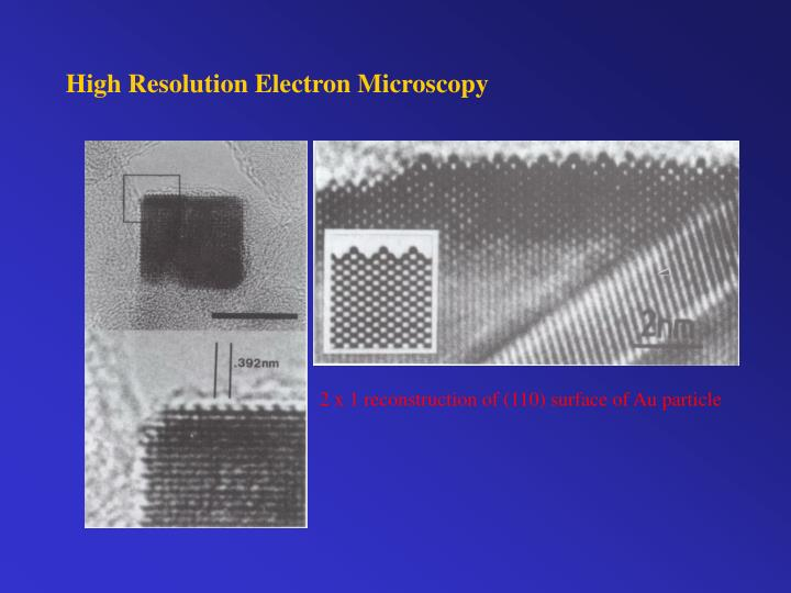 High Resolution Electron Microscopy