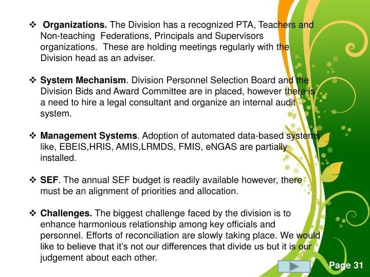 Organizations.