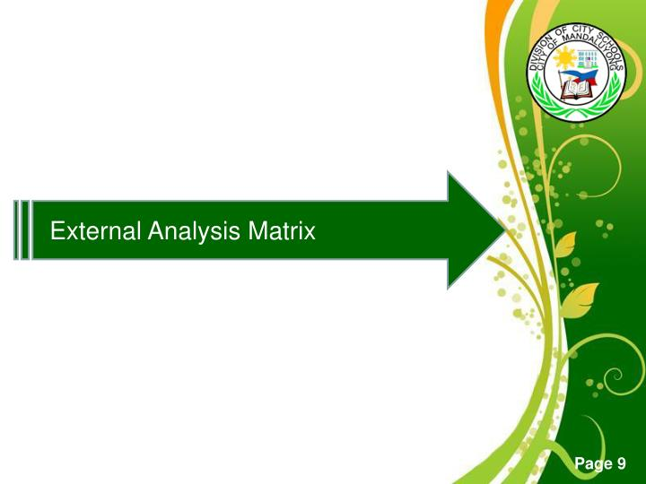 External Analysis Matrix