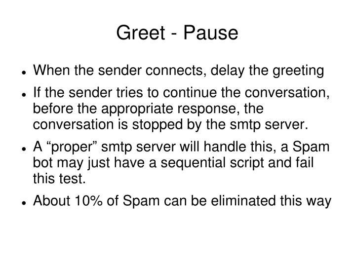 Greet - Pause