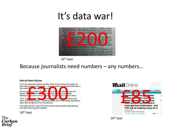 It's data war!
