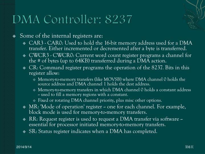 DMA Controller: 8237
