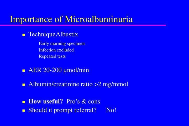Importance of Microalbuminuria
