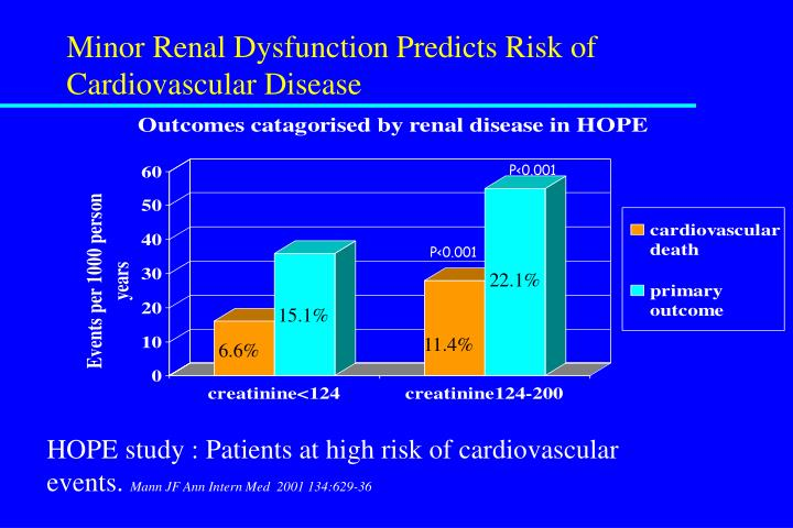 Minor Renal Dysfunction Predicts Risk of Cardiovascular Disease