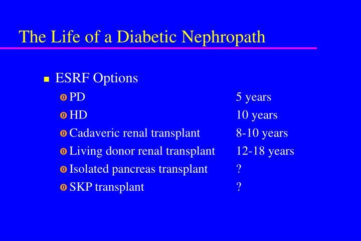The Life of a Diabetic Nephropath