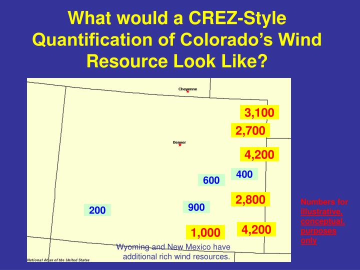 What would a CREZ-Style Quantification of Colorado's Wind Resource Look Like?