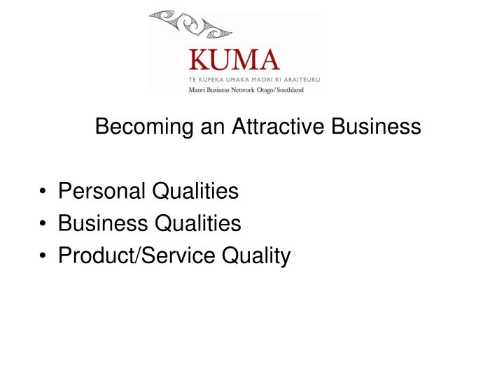 Becoming an Attractive Business