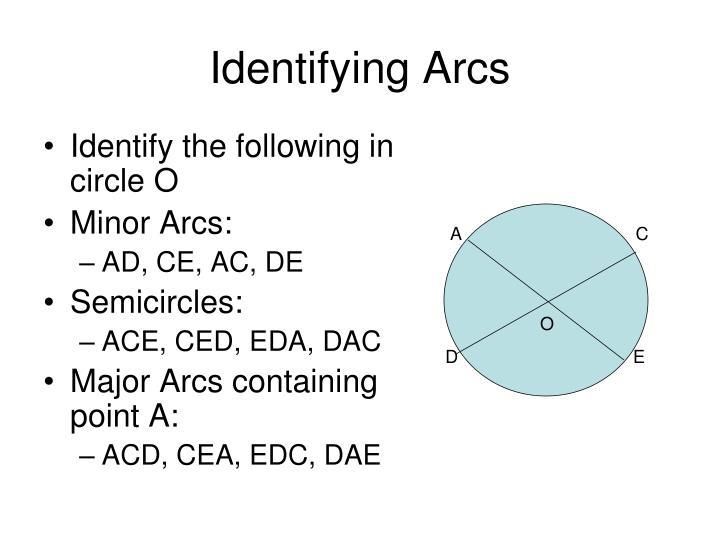 Identifying Arcs