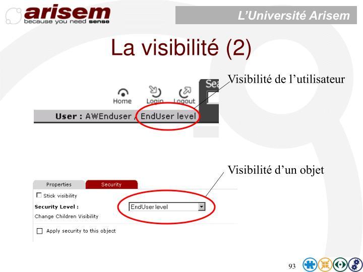 La visibilité (2)