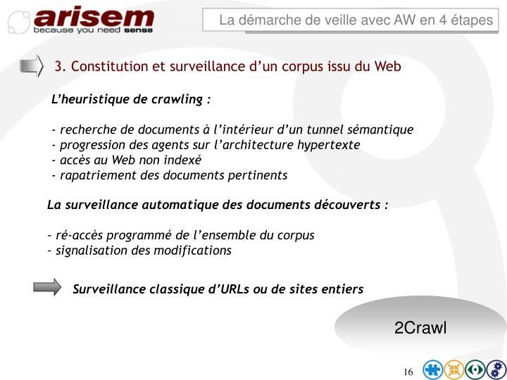 3. Constitution et surveillance d'un corpus issu du Web