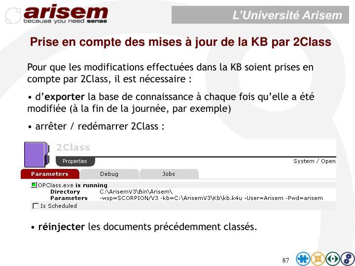 Prise en compte des mises à jour de la KB par 2Class