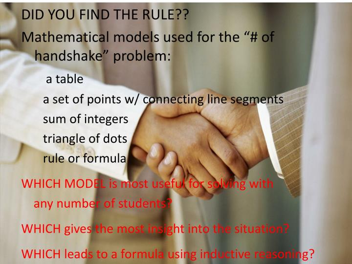 DID YOU FIND THE RULE??