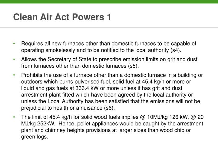 Clean Air Act Powers 1