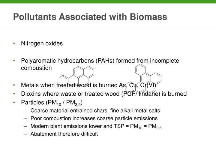 Pollutants Associated with Biomass