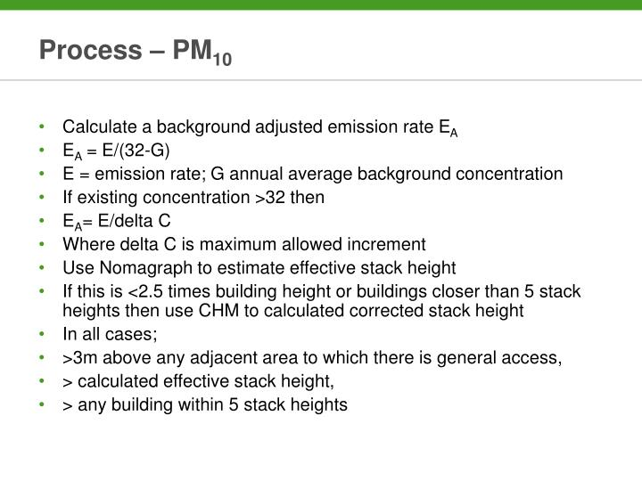 Process – PM