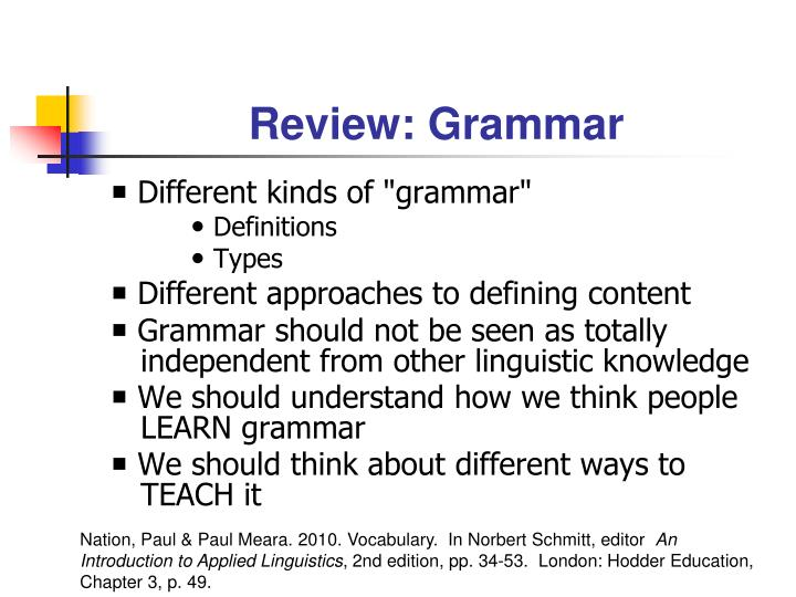 Review grammar
