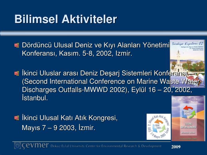 Bilimsel Aktiviteler