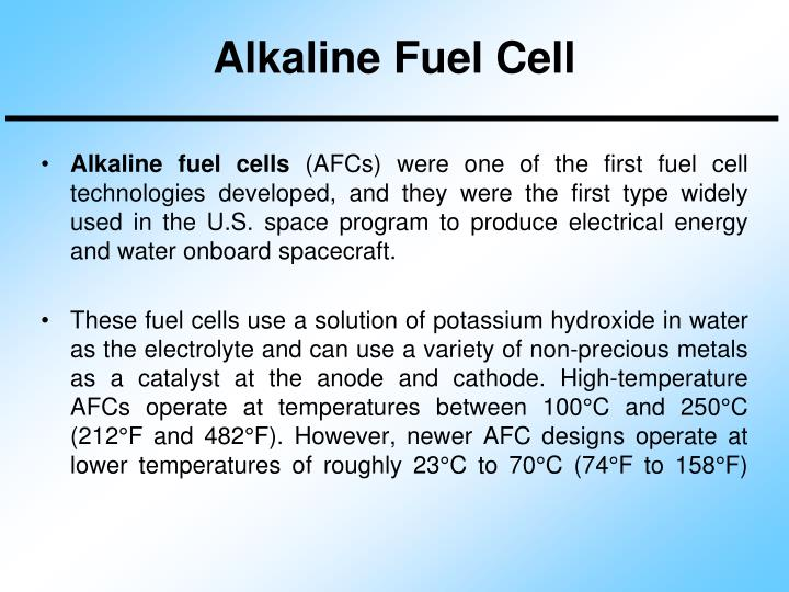 Alkaline Fuel Cell