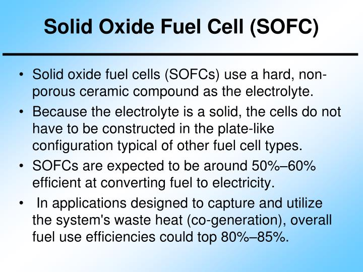 Solid Oxide Fuel Cell (SOFC)