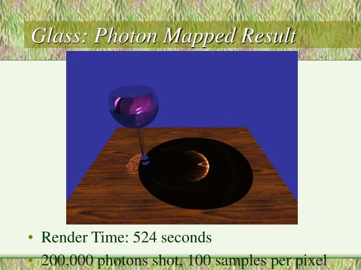 Glass: Photon Mapped Result