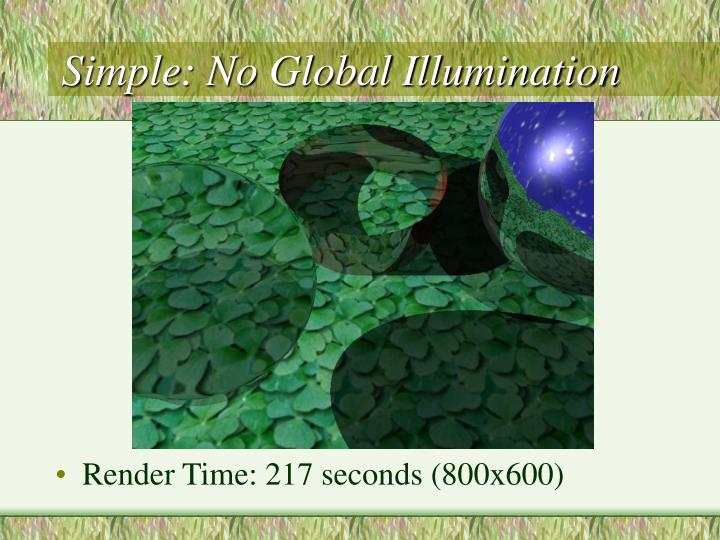Simple: No Global Illumination