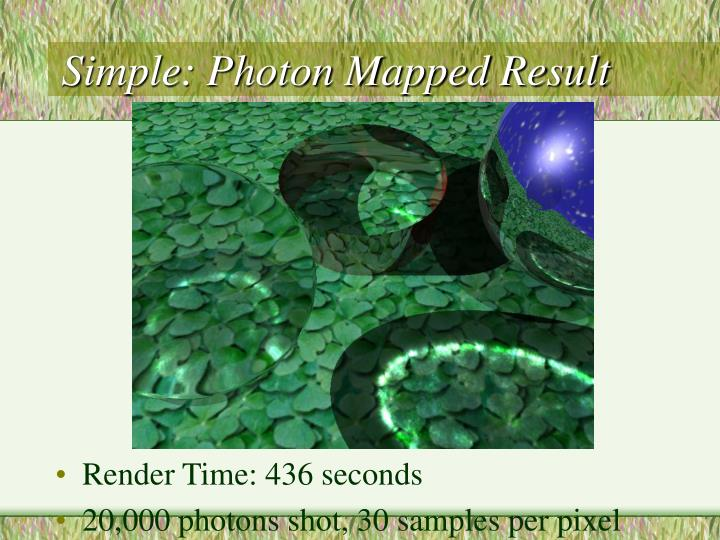 Simple: Photon Mapped Result