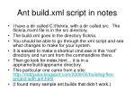 ant build xml script in notes
