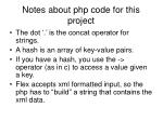 notes about php code for this project