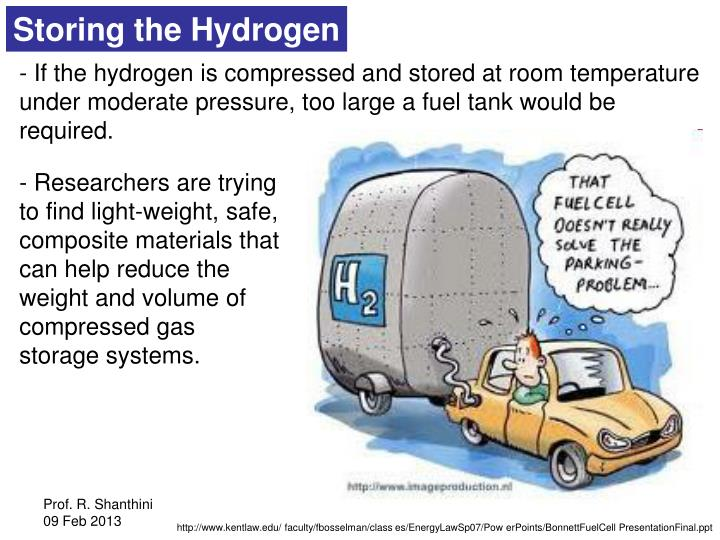 Storing the Hydrogen