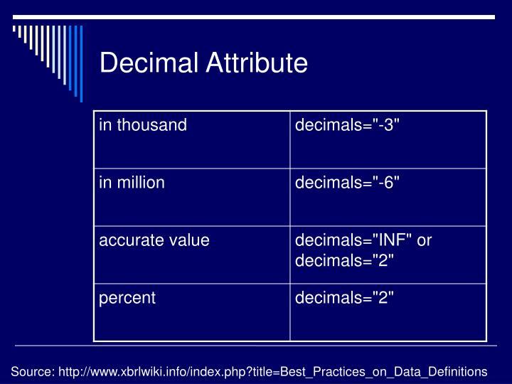 Decimal Attribute