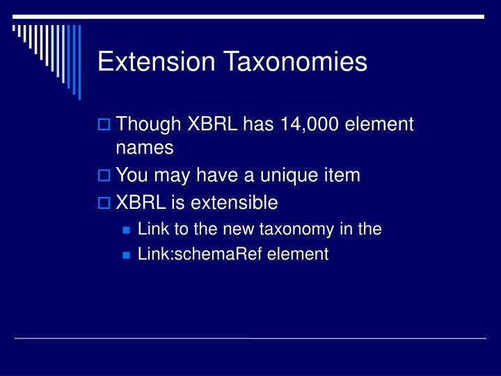 Extension Taxonomies
