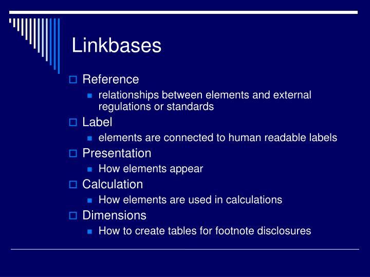 Linkbases