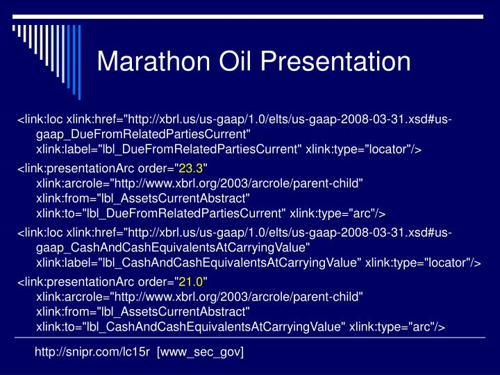 Marathon Oil Presentation
