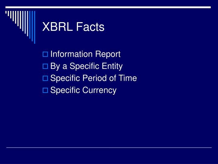 Xbrl facts
