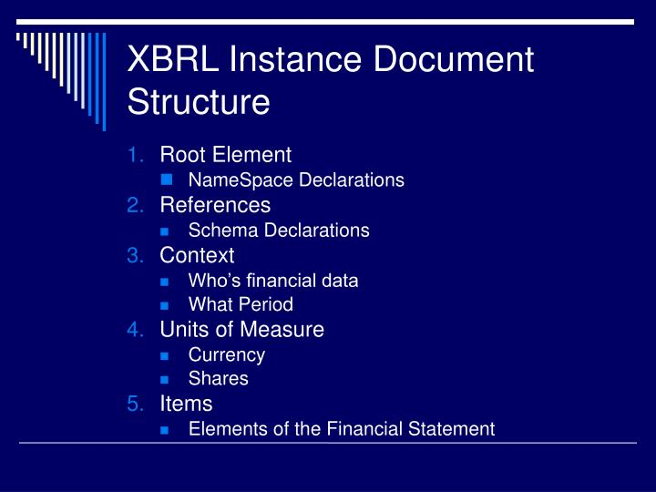 XBRL Instance Document Structure