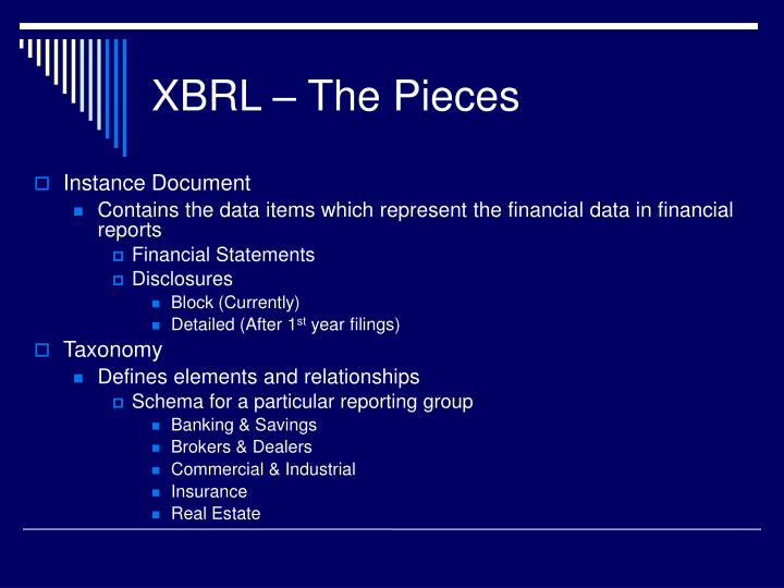 Xbrl the pieces