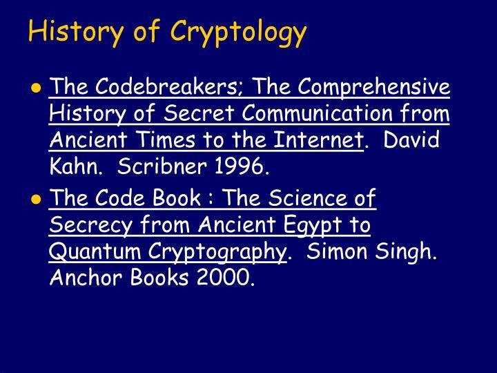 History of Cryptology