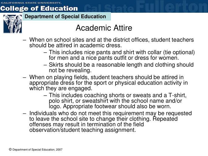 Academic Attire