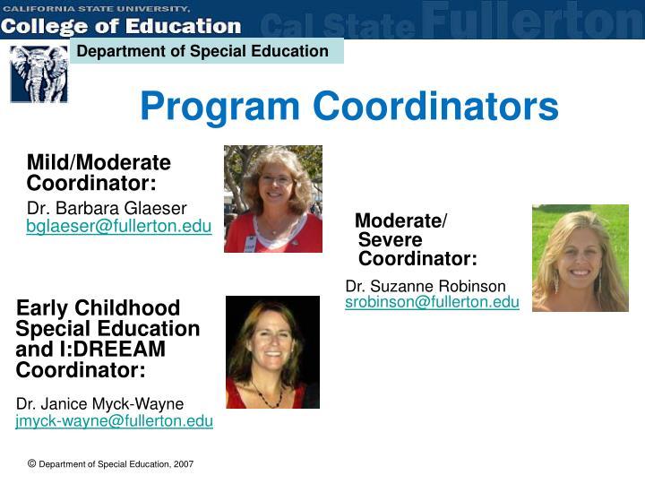 Program Coordinators