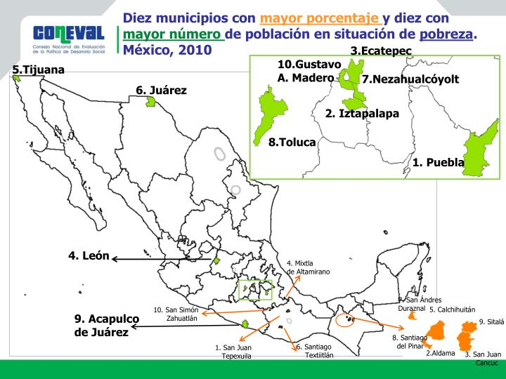 Diez municipios con