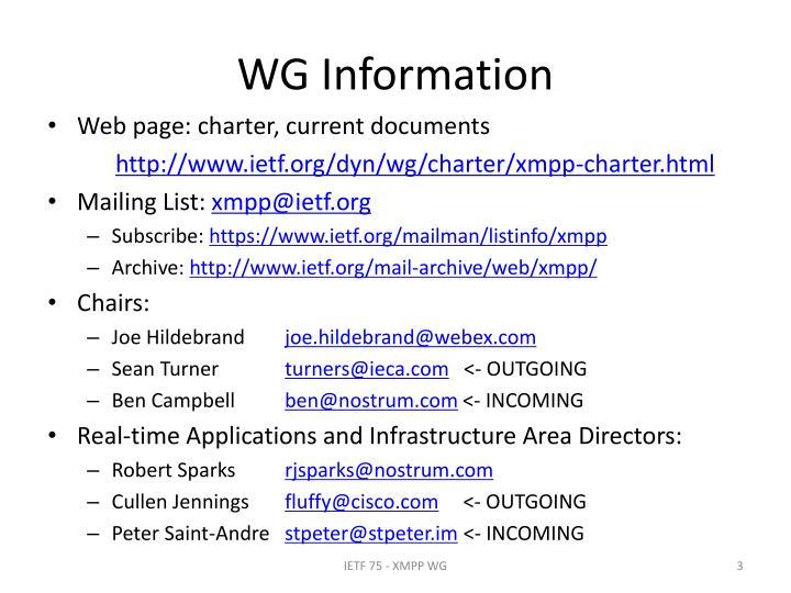 WG Information