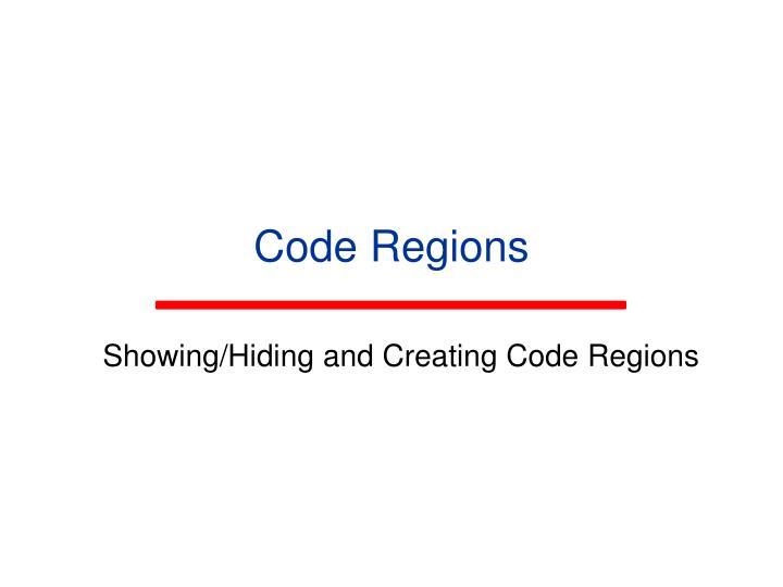 Code Regions