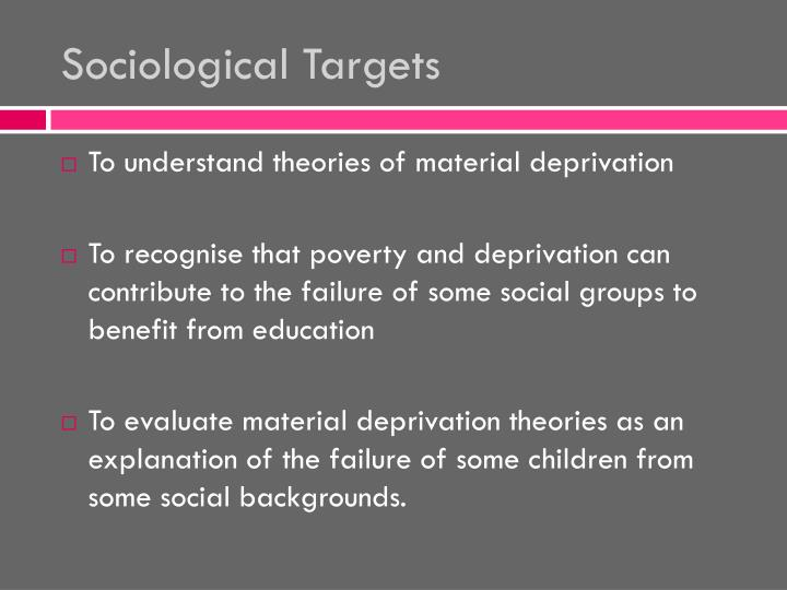 Sociological Targets