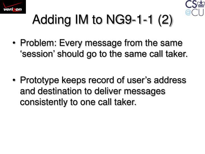 Adding IM to NG9-1-1 (2)
