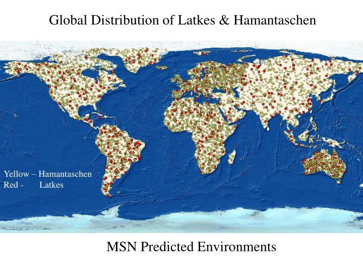 Global Distribution of Latkes & Hamantaschen