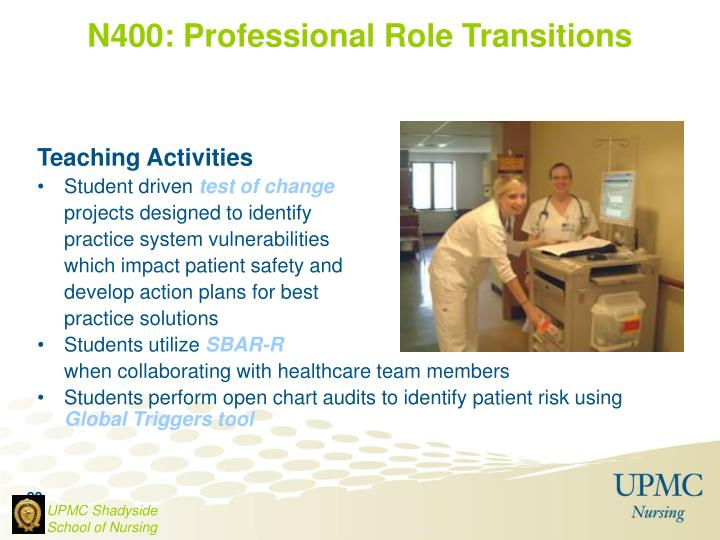 N400: Professional Role Transitions