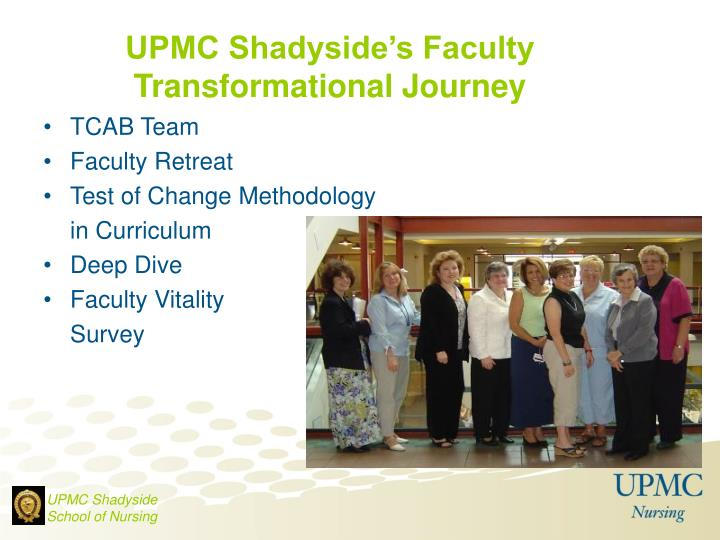 UPMC Shadyside's Faculty
